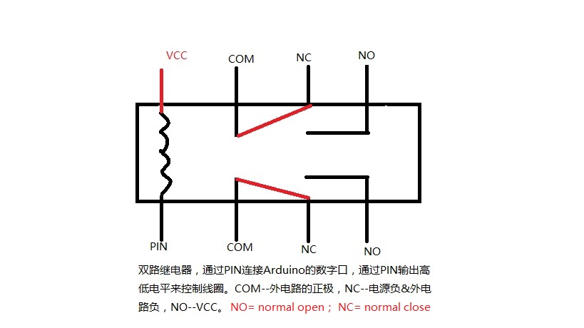 继电器连接图